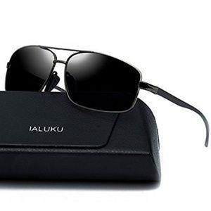 Other - Rectangular Aviator Polarized Sunglasses Gray